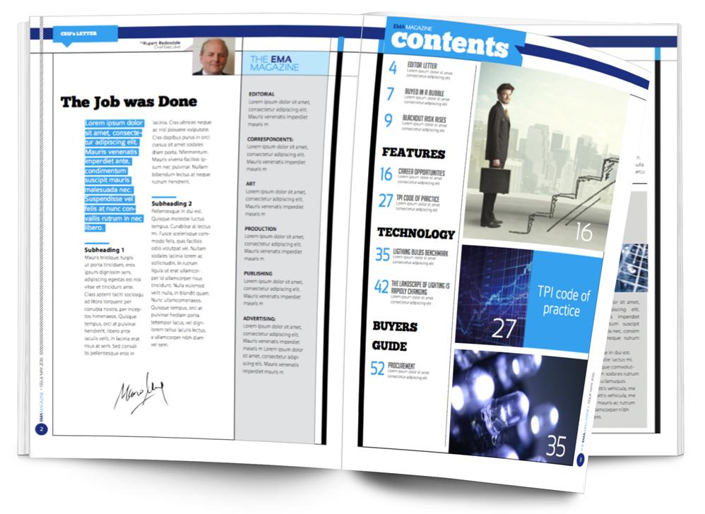 EMA Magazine spread