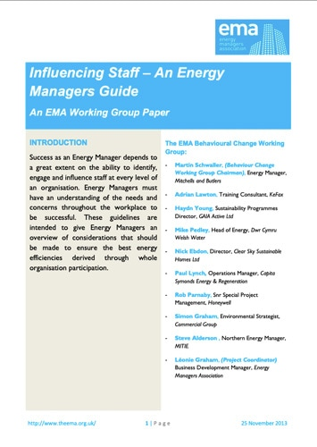 Energy Manager's Guide to Engaging with Staff