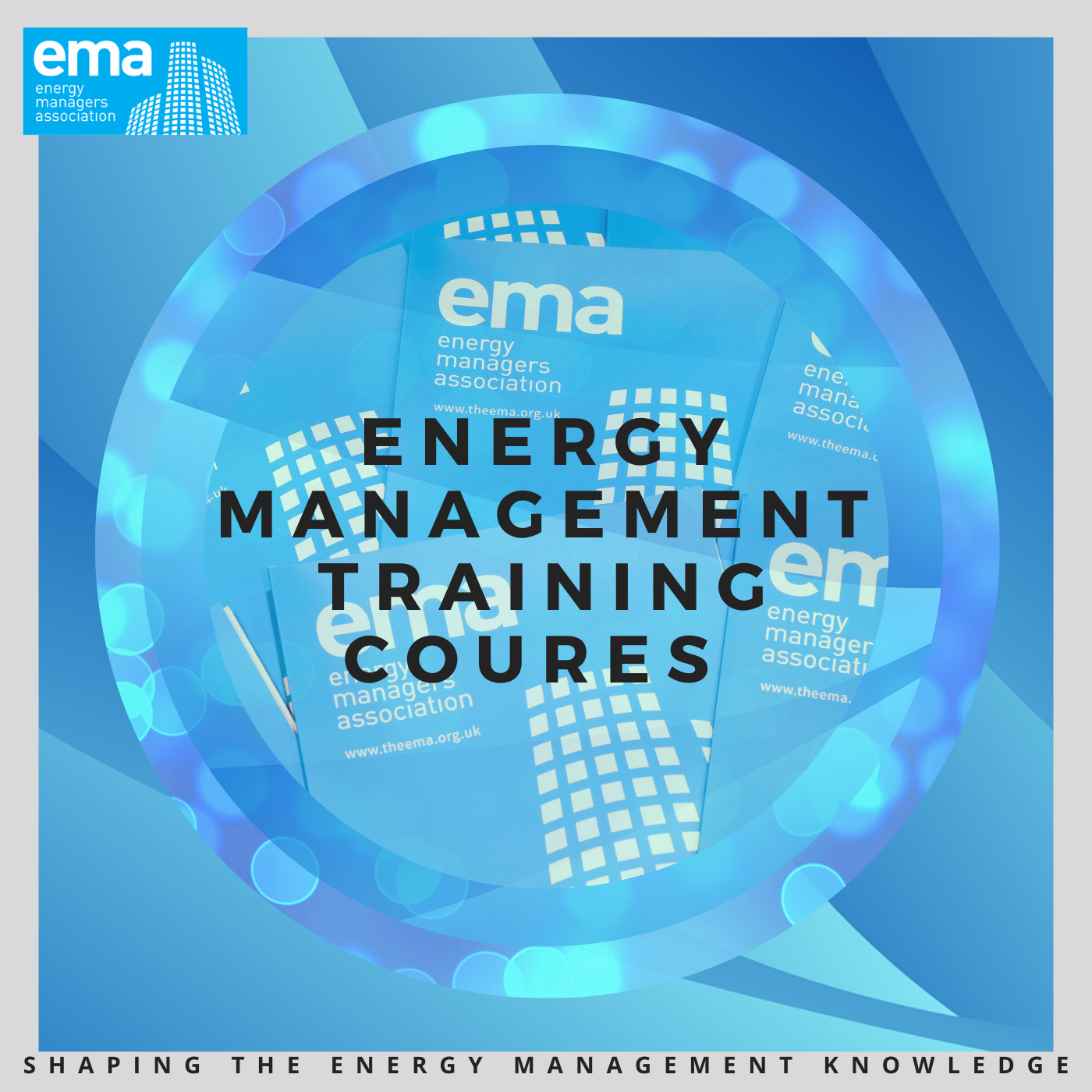 Energy Management Training Coures Blue Round