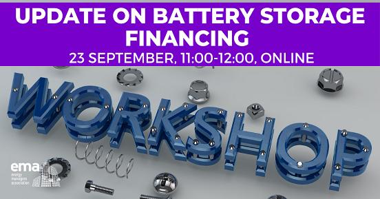 Update On Battery Storage Financing